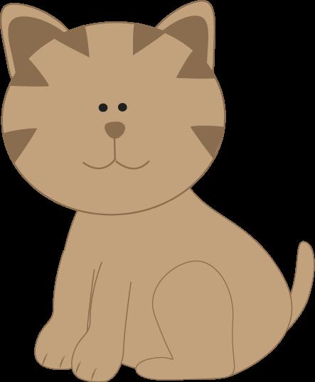 Cartoon pouncing kitten Clip Art.