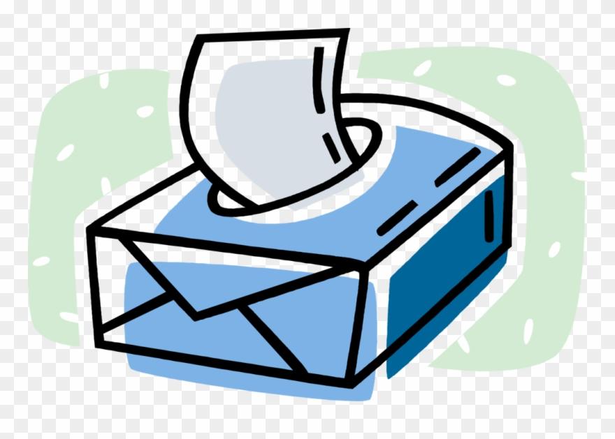 Vector Illustration Of Box Of Kleenex Facial Tissue.