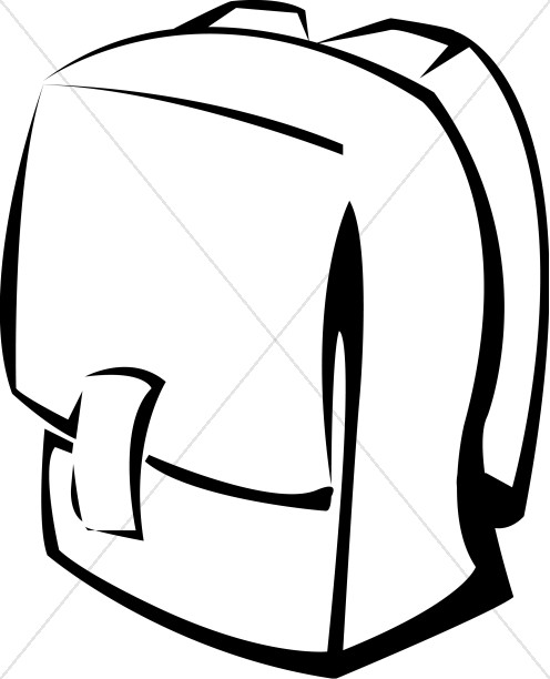 Black and White School Backpack.
