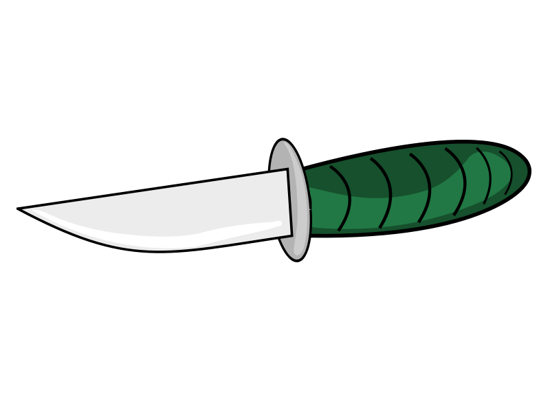 Free Clipart: A knife.
