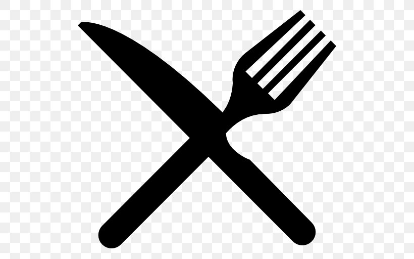 Knife Fork Spoon Clip Art, PNG, 512x512px, Knife, Black And.