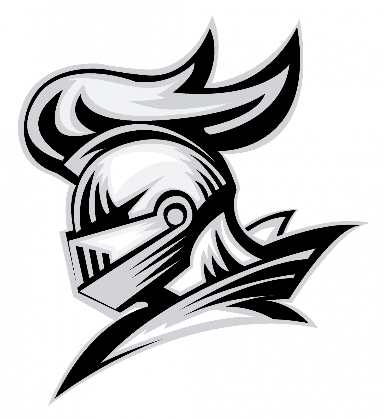 Vector Of Knight Helmet, Could Be Use As Logo Icon Or ...  Knights Helmet Logo