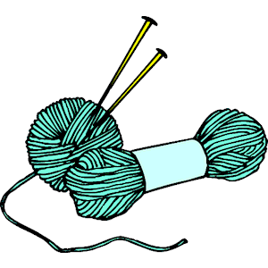 KNITTING NEEDLES CLIP ART.