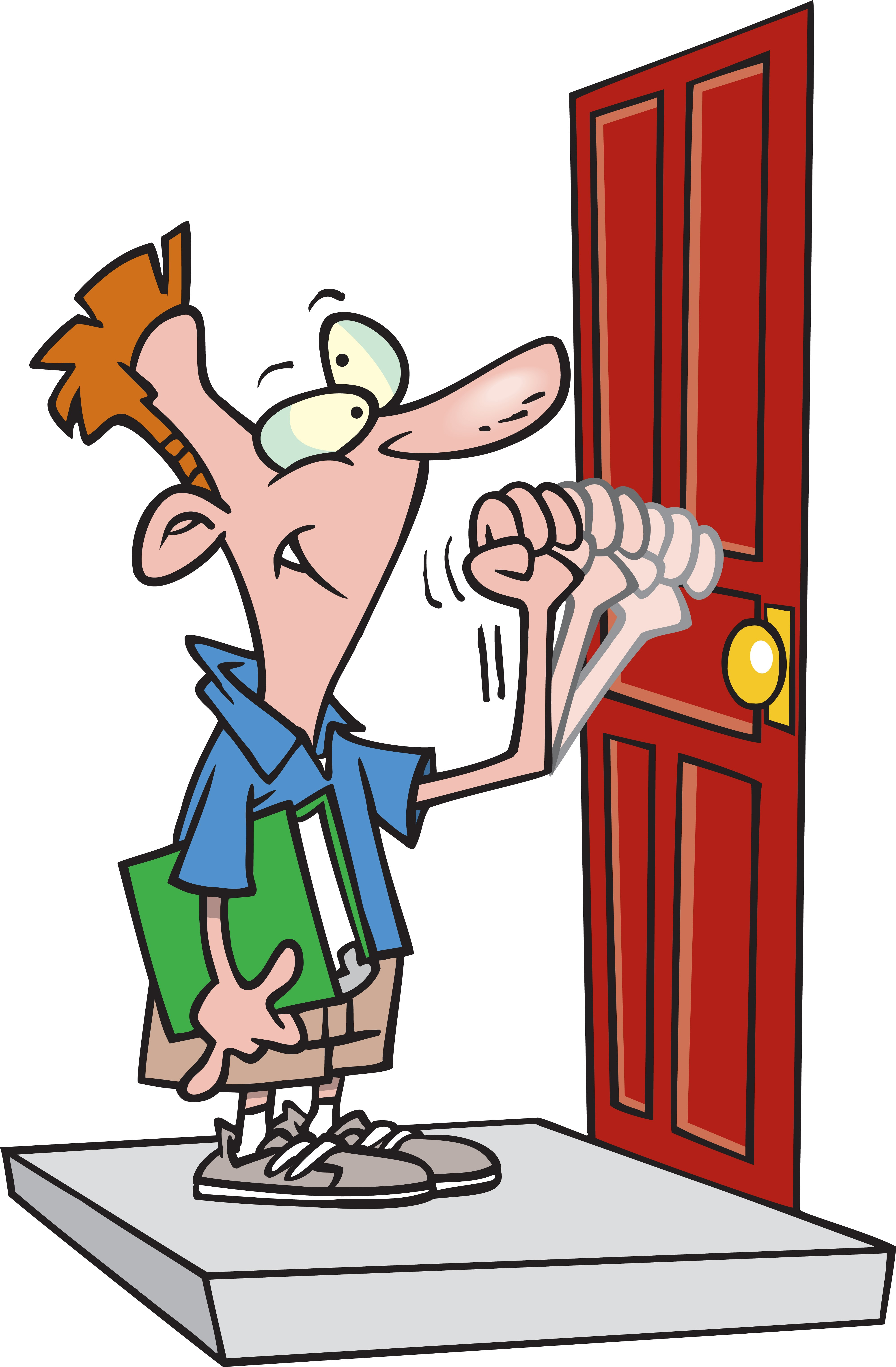 Knocking On A Door Clipart.