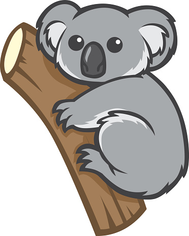Vector and cute sleeping koala clipart 3 favorite.