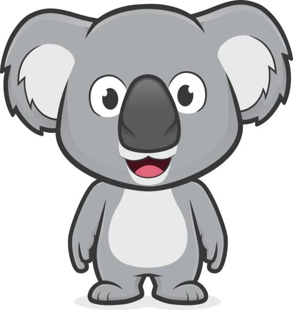 1558 Koala free clipart.