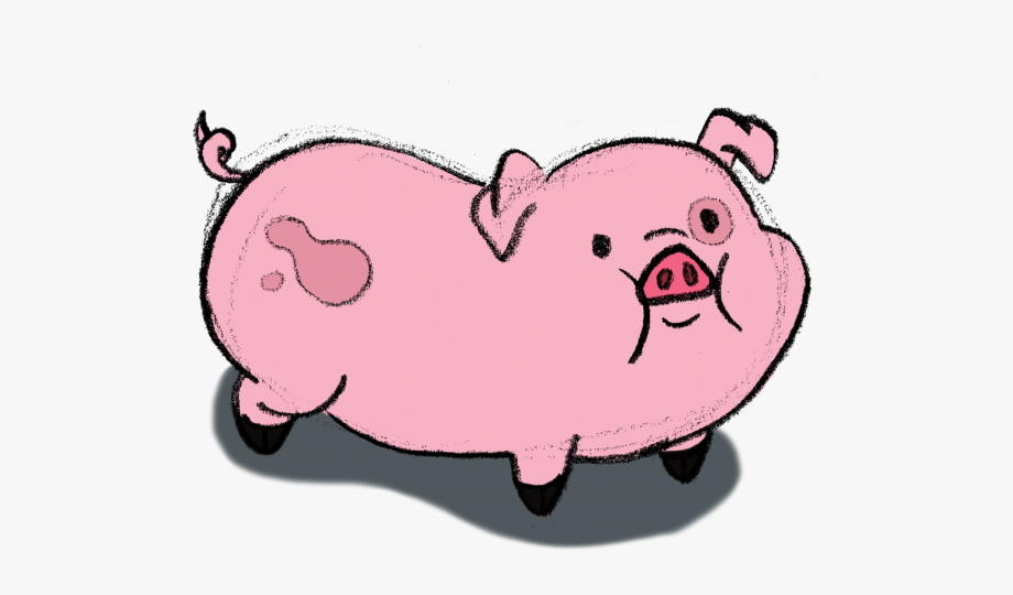 Drawn Pig Gravity Falls.