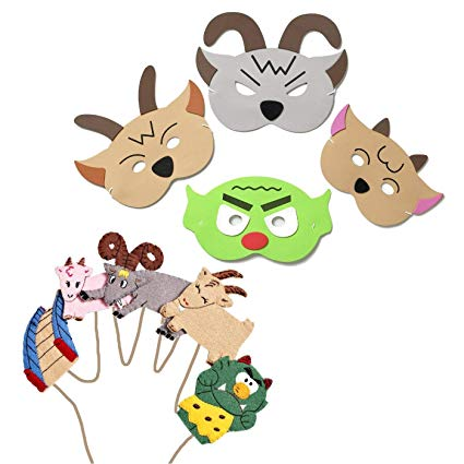 Amazon.com: Blue Frog Toys Billy Goats Gruff Mask and Finger.