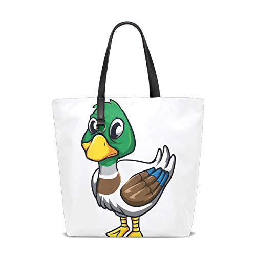 Duck Tote Bag Purse Handbag Womens Gym Yoga Bags for Girls.