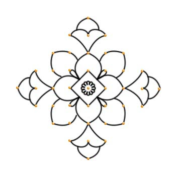 Simple Kolam Clipart.
