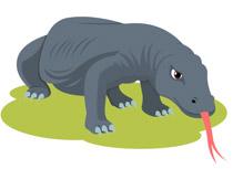 Reptiles Komodo Dragon Clipart.