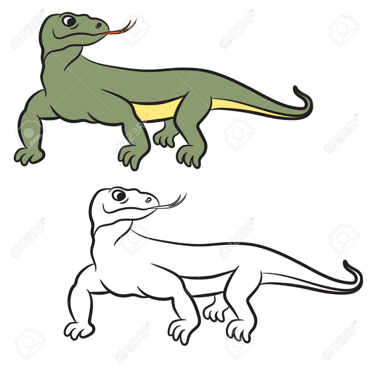 Komodo Dragon Clipart.