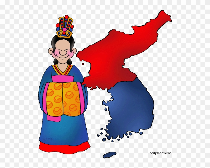Korea Clipart Map.