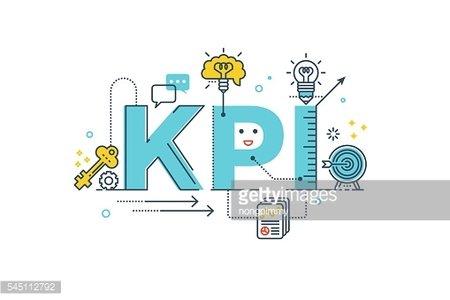 KPI : Key Performance Indicator word Clipart Image.