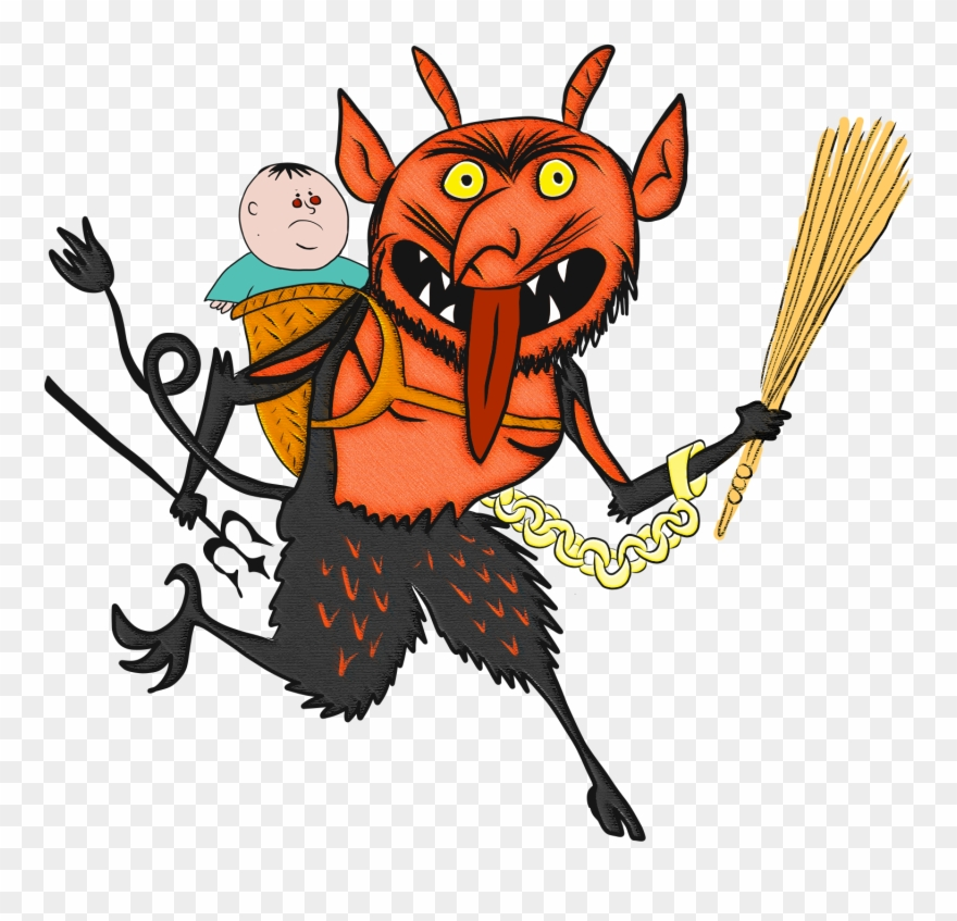 Krampus With Pagonis Clipart (#2526306).