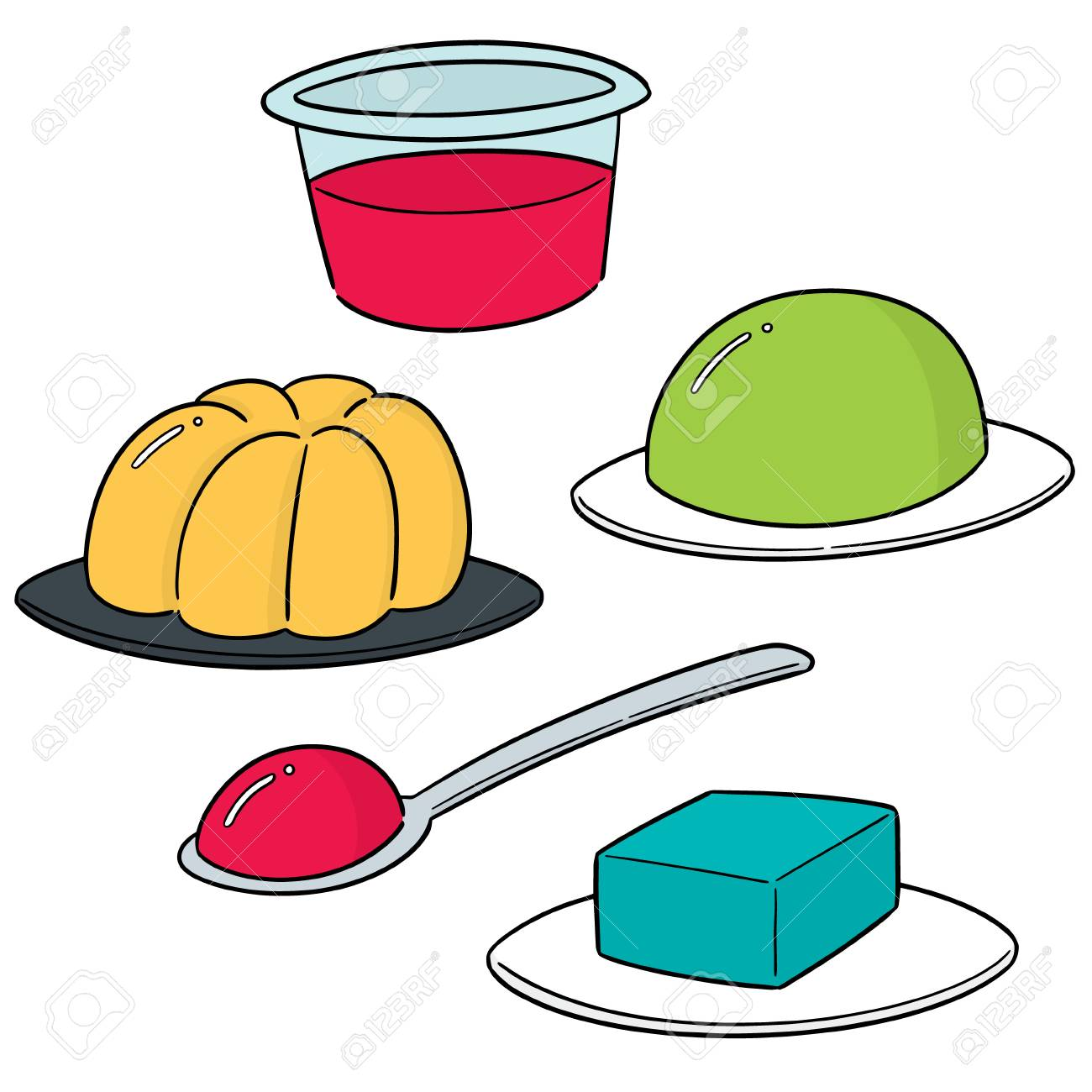 vector set of jelly.