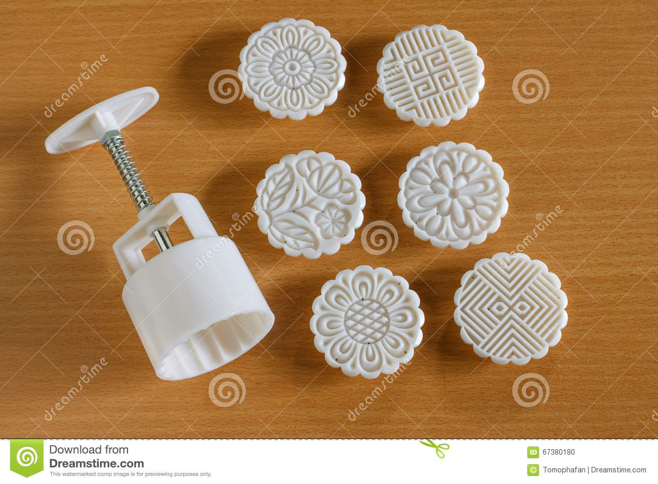 Moon cake mold stock photo. Image of kueh, mould, hand.