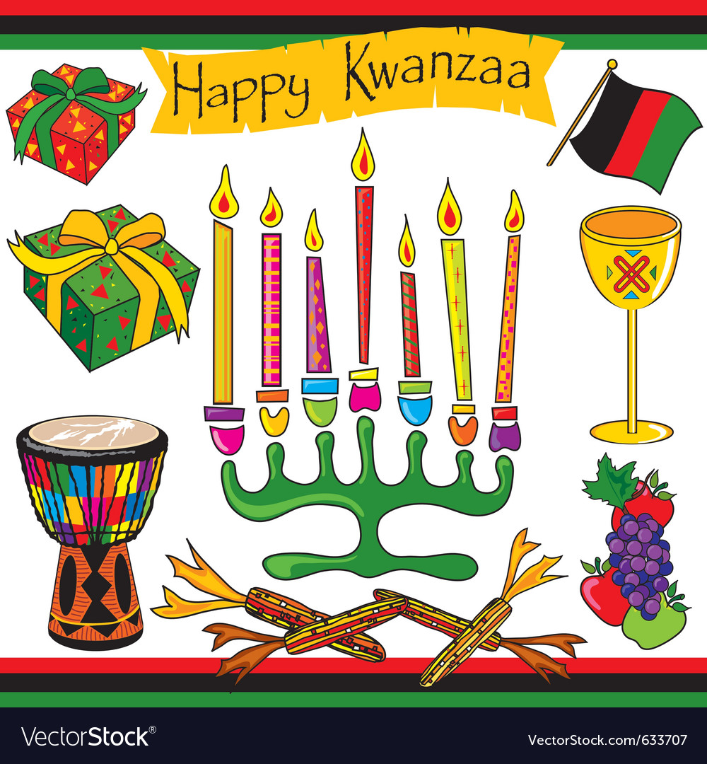 Kwanzaa clipart elements and icons.