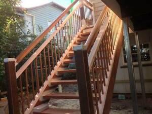Kwila Hardwood Handrail Components.