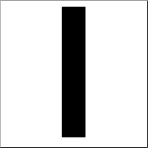 Clip Art: Alphabet Set 00: L Lower Case BW I abcteach.com.