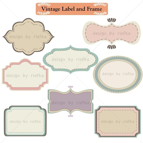 Label and Frame Clip art.