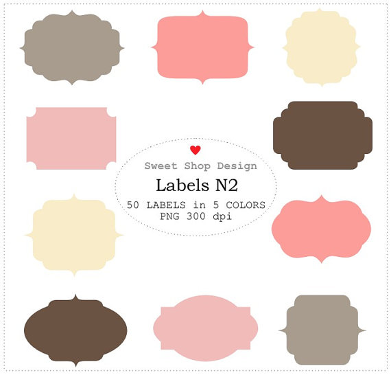 Frames Label Free Clipart.