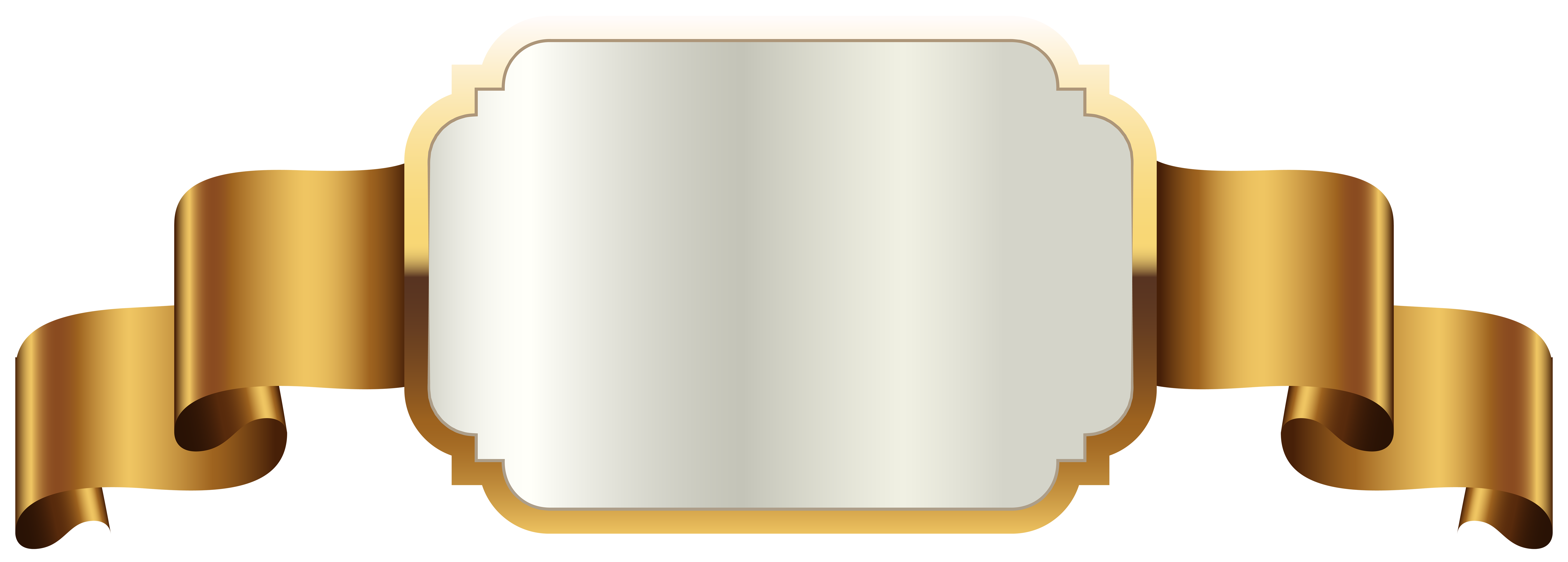 Gold Label Template Transparent PNG Clip Art Image.