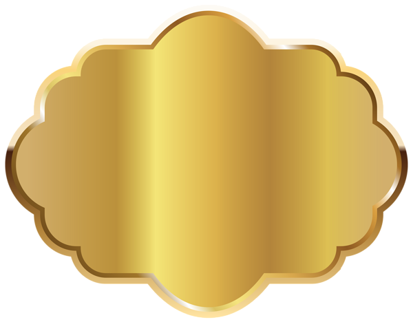 Gold Label Template Clipart Image.