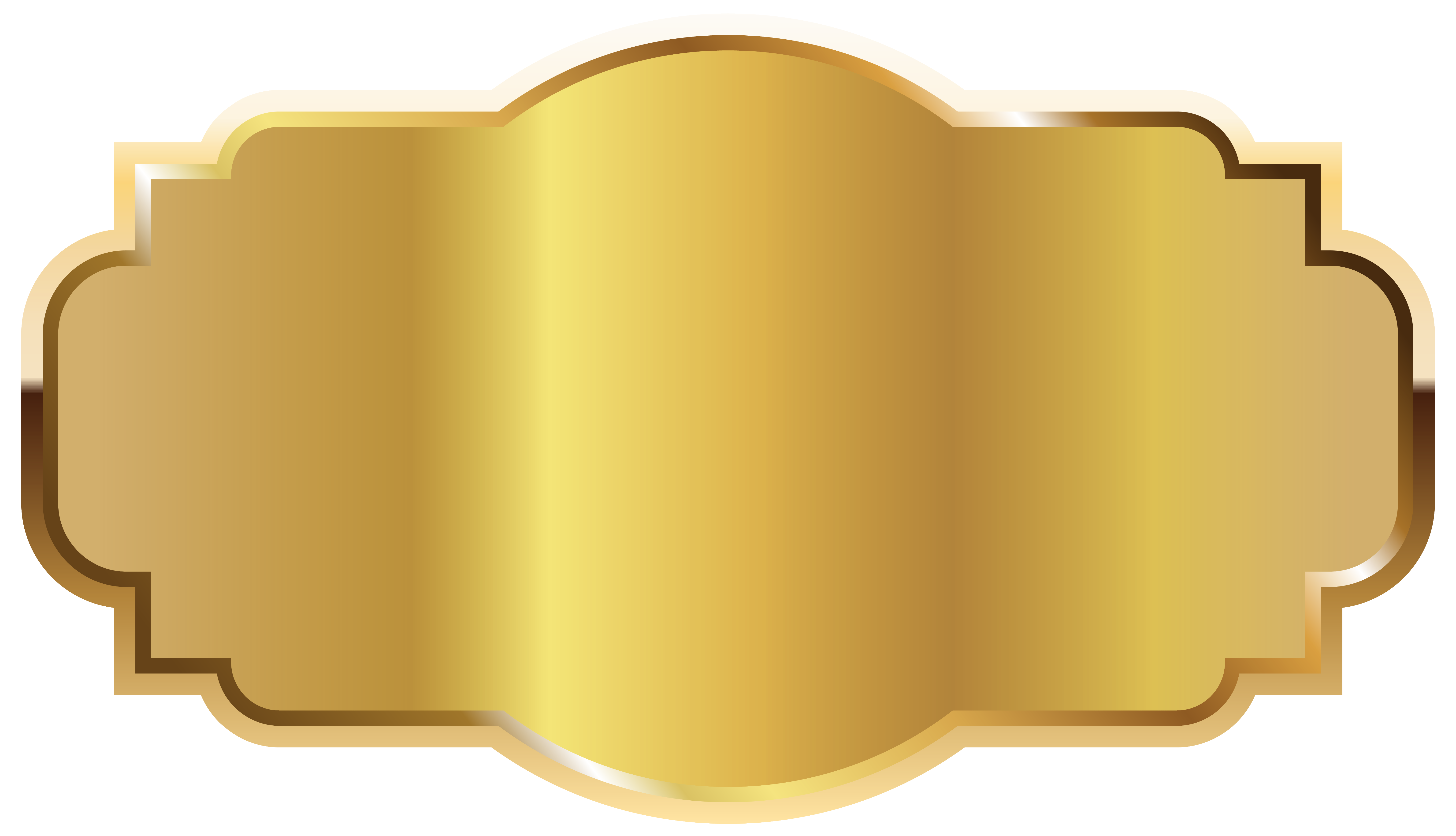 Gold Label Template Clipart PNG Image.