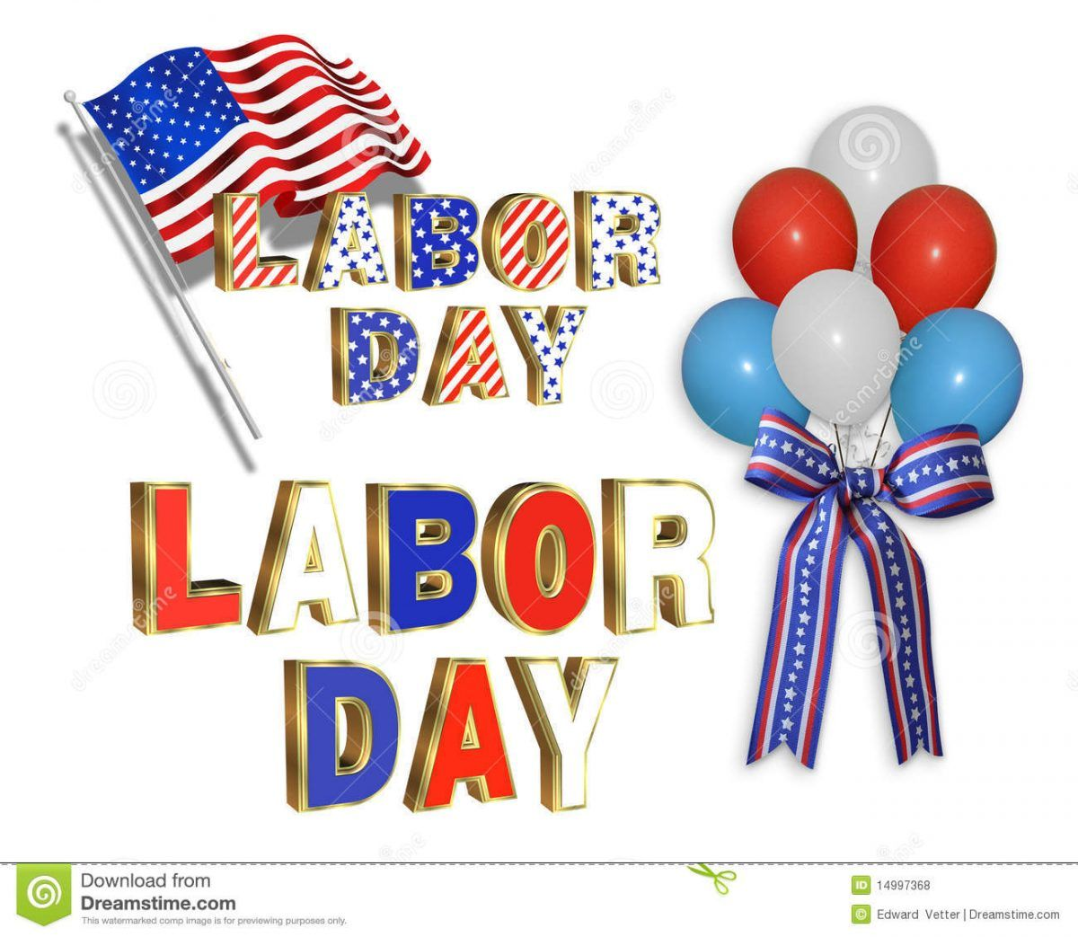 Labor Day Weekend Clipart Download.