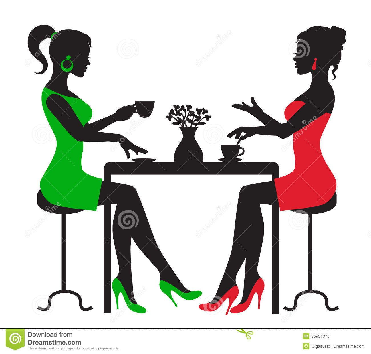 black woman tea for two art images.