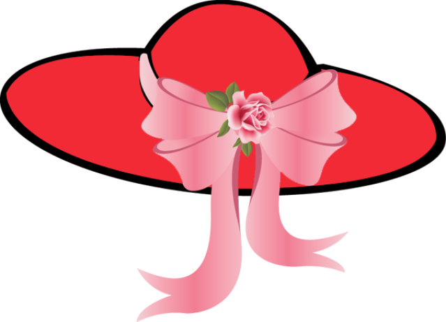 Clipart Ladies Hat Flowers.