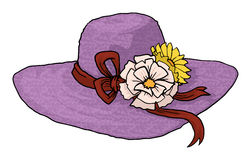 Sketch Elegant Woman Hat Stock Photos, Images, & Pictures.