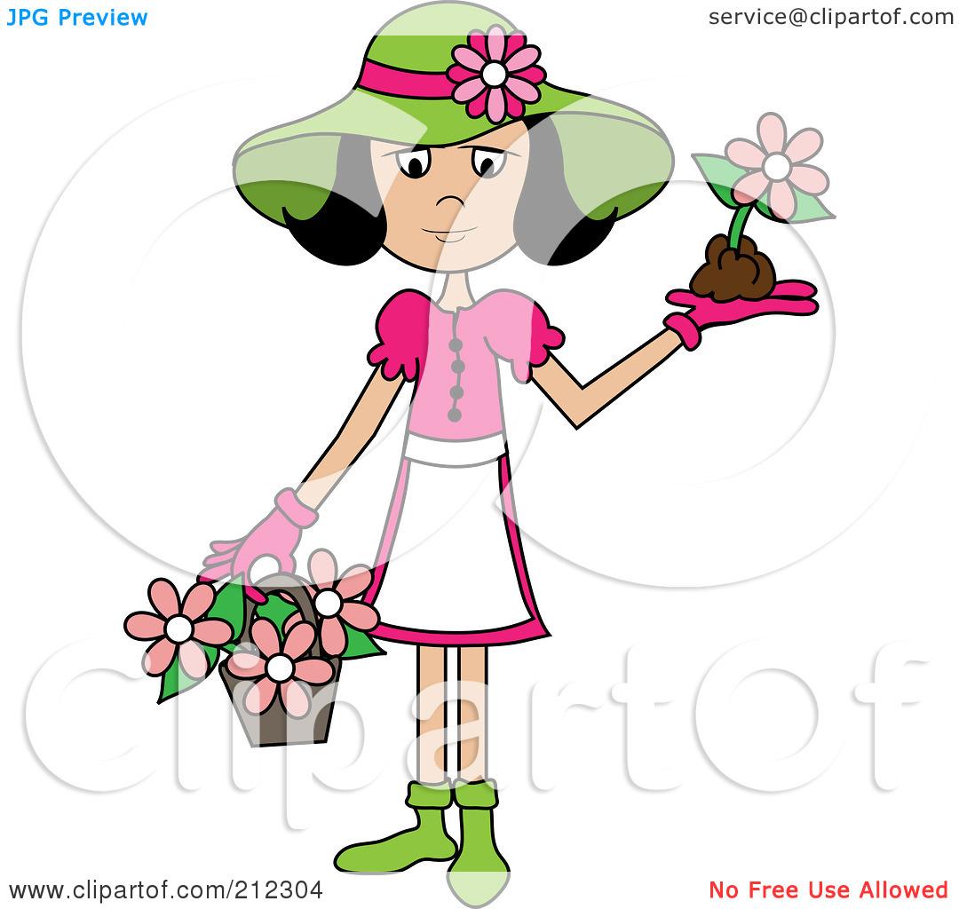 Clipart Ladies Hat Flowers.