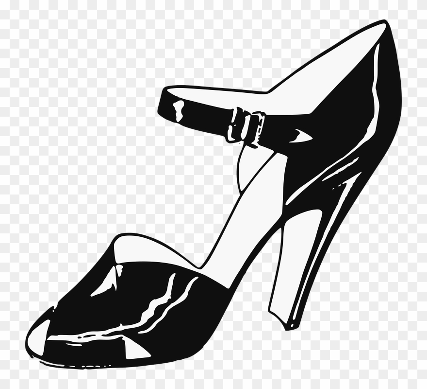 Drawn Shoe Lady Shoe.