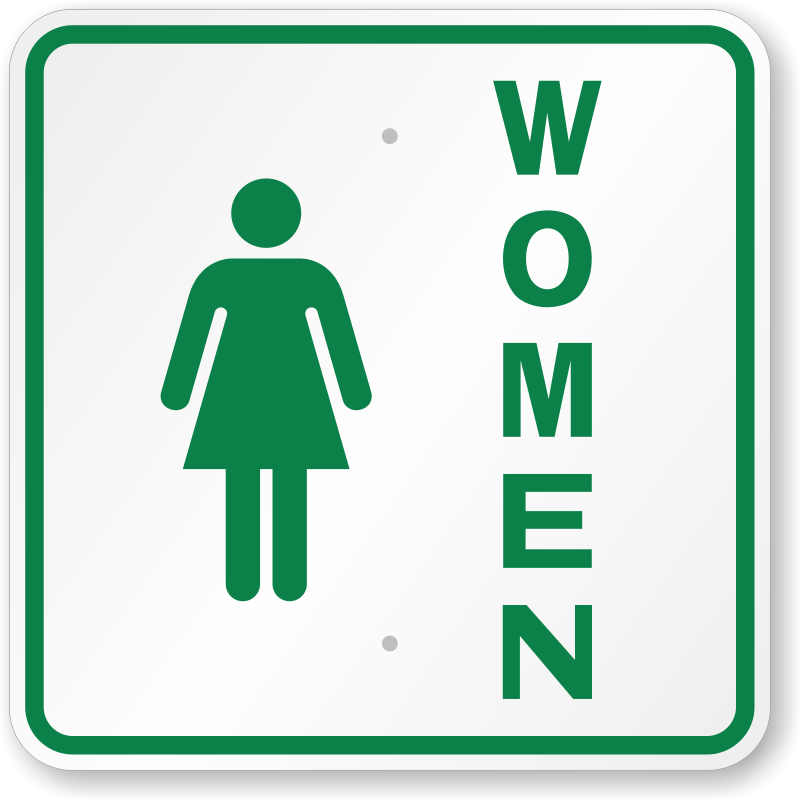 Ladies Restroom Sign.
