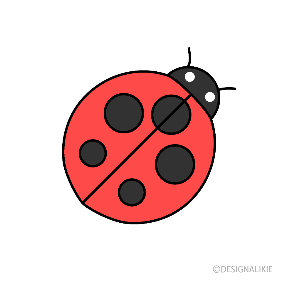 Free Simple Ladybug Clipart Image|Illustoon.