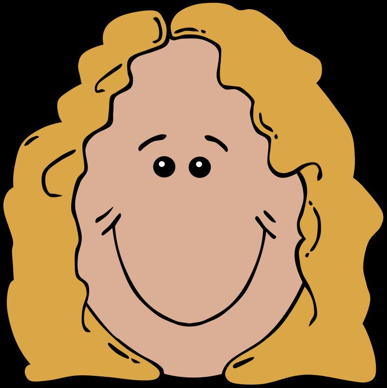 Free Clipart: Lady Face Cartoon.