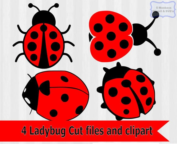 Ladybug svg, ladybug Clipart, ladybug download, dxf files, svg files, svg  files for silhouette, svg files for cricut, lady bug svg, vector.