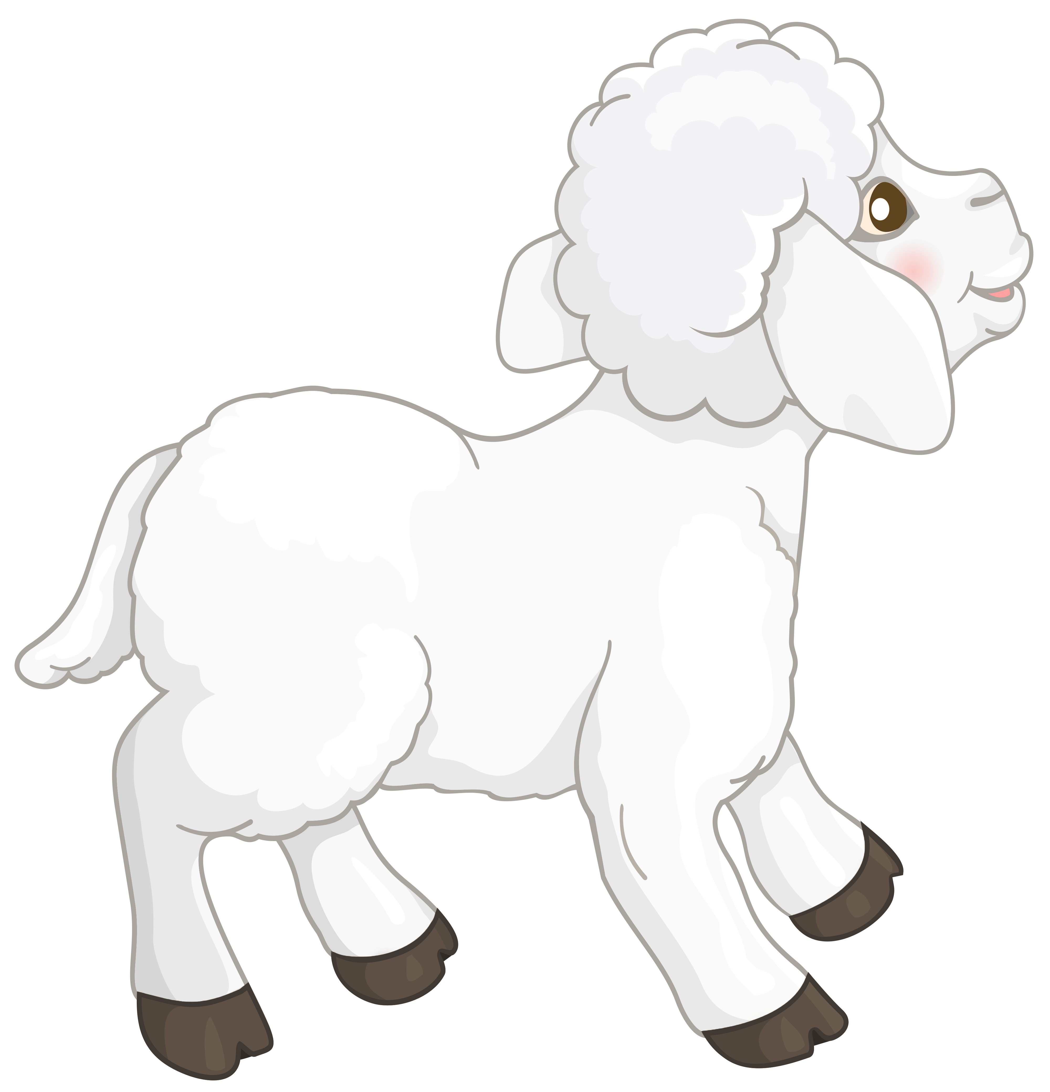 Transparent white lamb clipart.
