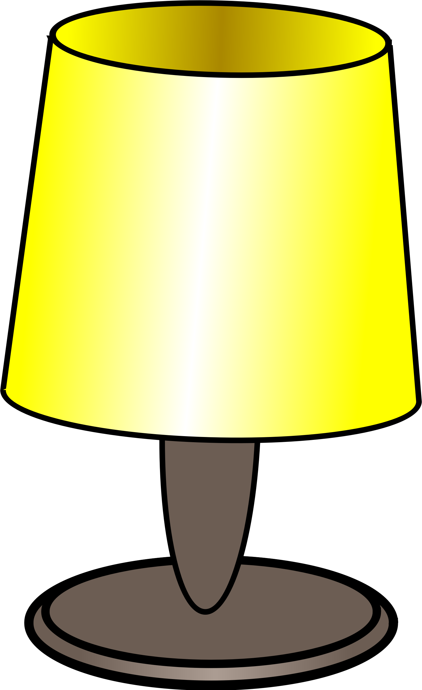 Table Lamp Clipart free image.