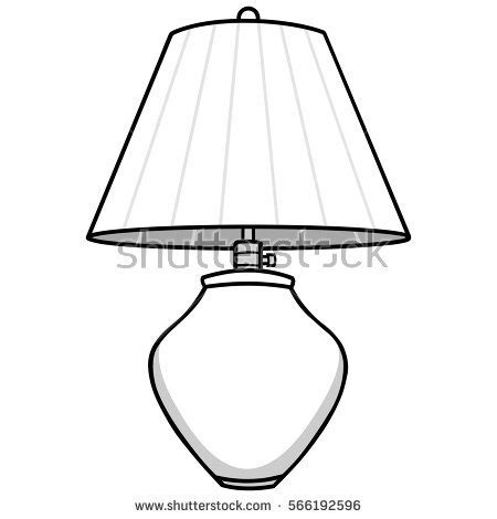 Black And White Lamp.