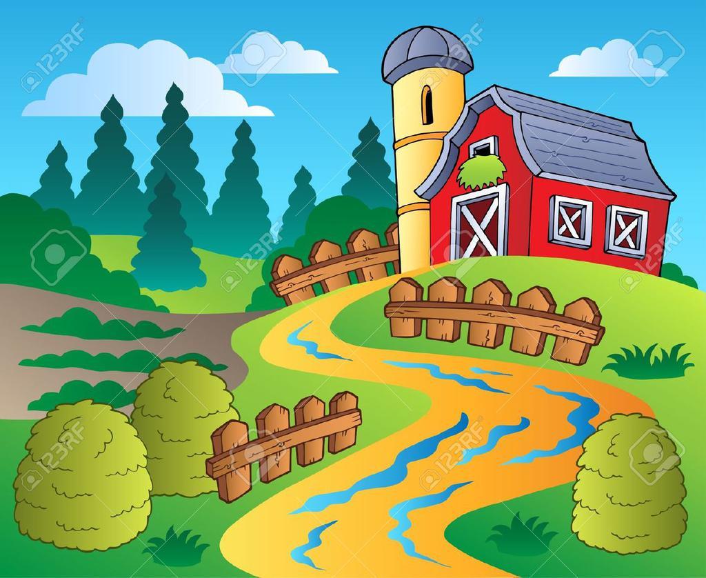 Farm Scene Clipart Land.