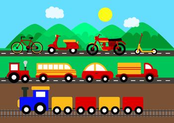 Land Transport Clipart.