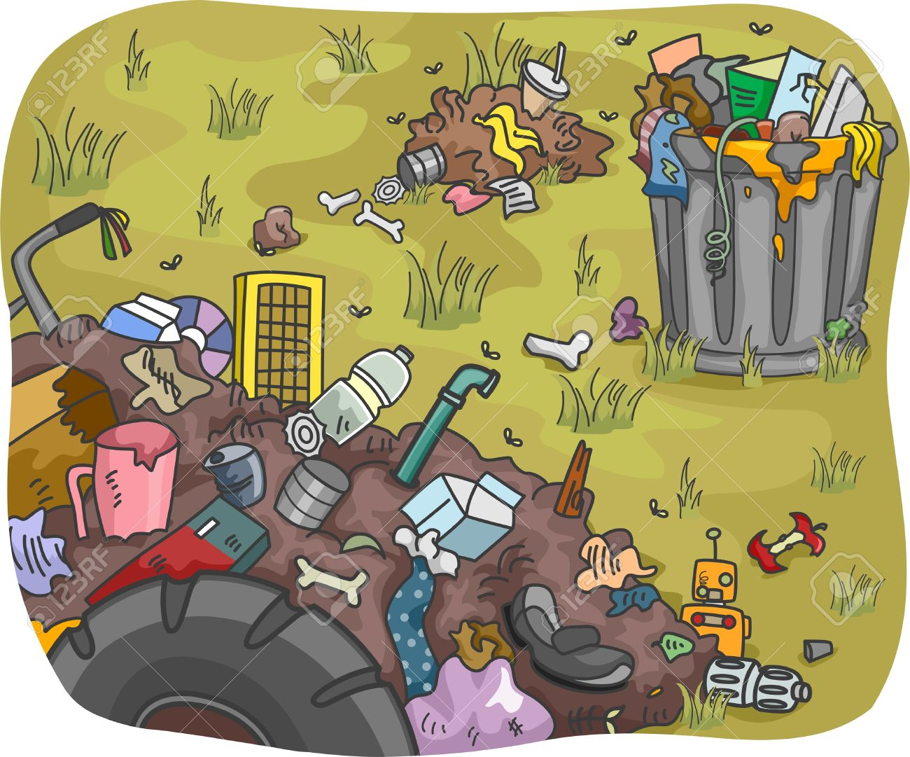 Land Pollution Clipart Images.