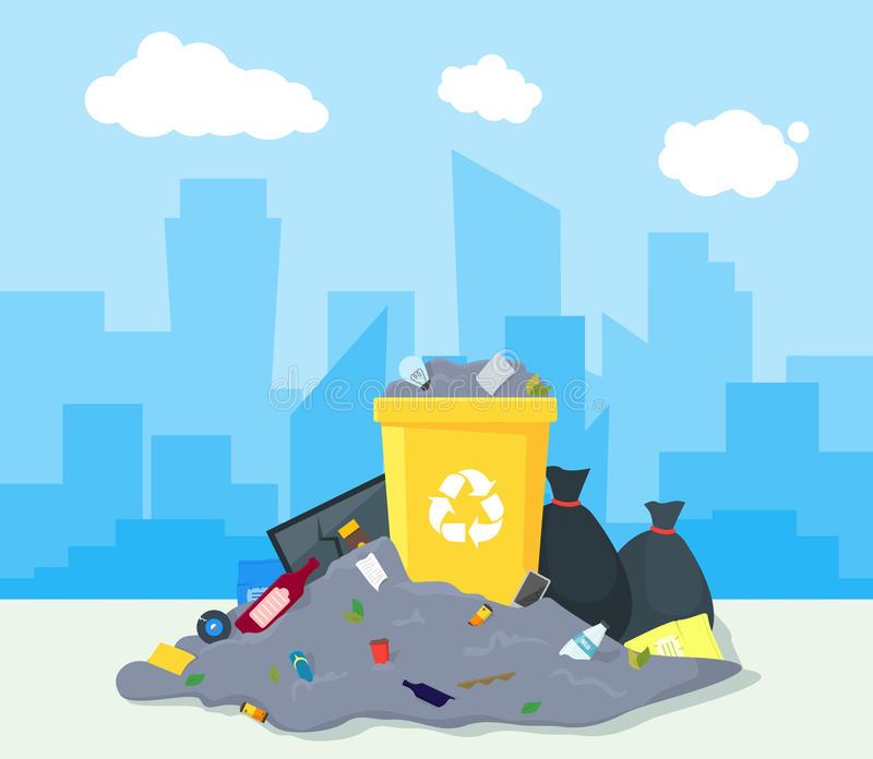 Landfill Stock Illustrations.