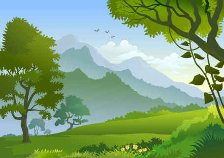Free free forest landscape trees Clipart and Vector Graphics.