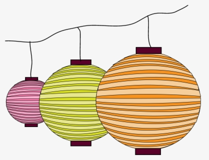 Free Chinese Lantern Clip Art with No Background.