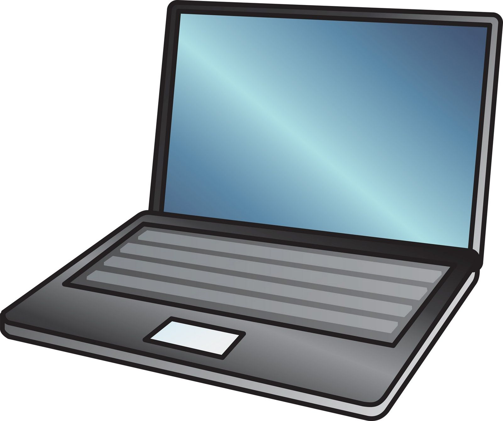Cartoon Laptop Computer Clip Art I love the look of this..