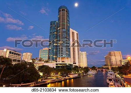 Stock Photo of USA, Florida, Fort Lauderdale, Las Olas River House.